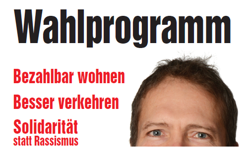 Banner Wahlprogramm